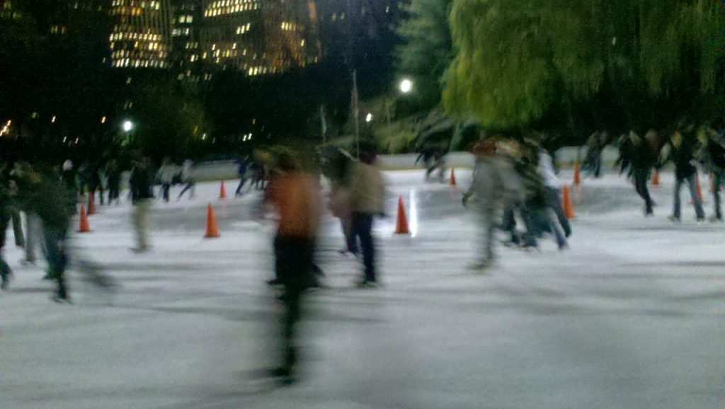 Ice skating Central Park