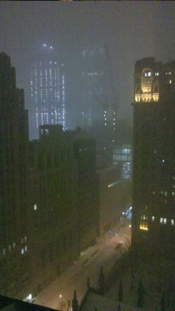 Tormenta desde casa en NY