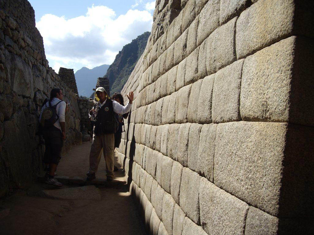 Detalle encaje piedras estilo inca