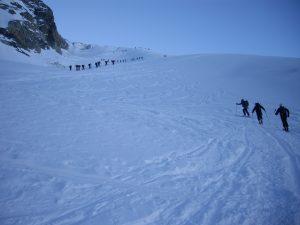 Pujant al Collado de Brenay (3.639m)