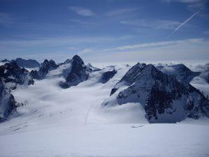 Glaciar y Col de l'Evêque