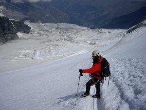 Descenso y vista pistas esqui