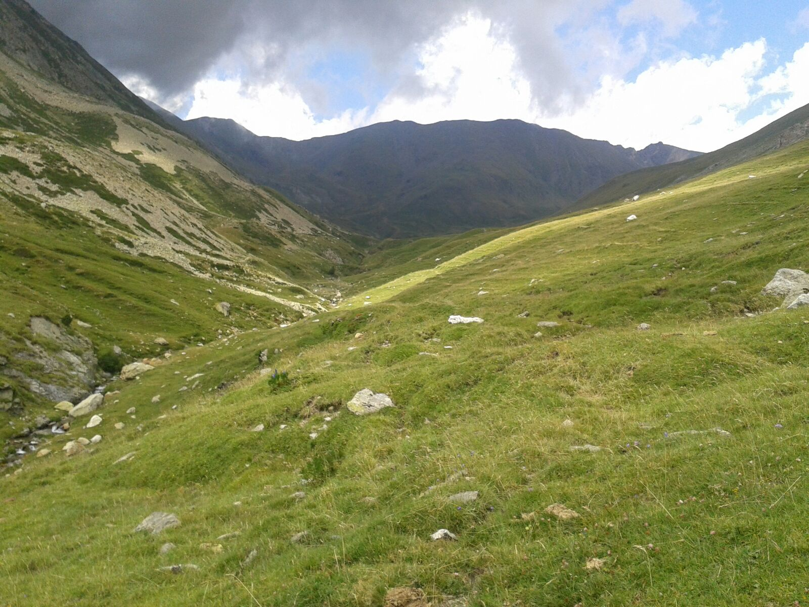 Valle verde hacia Torreneules
