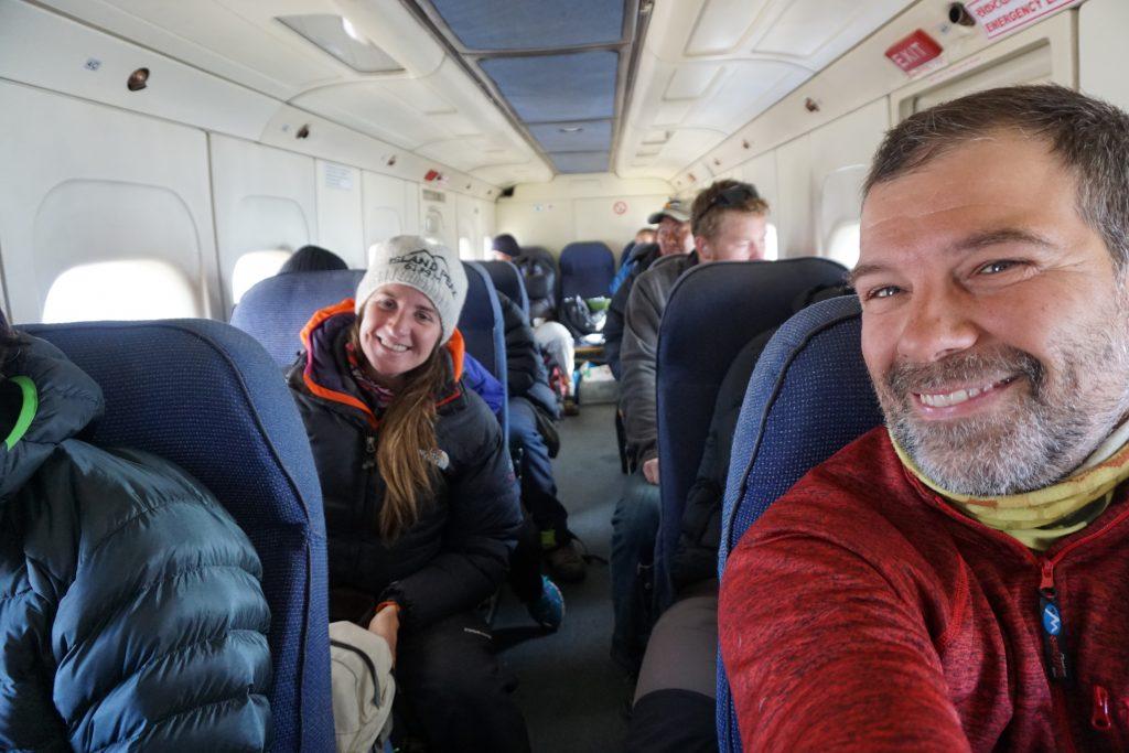 En la avioneta