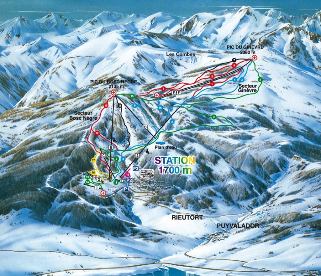 plan pistes Puyvalador