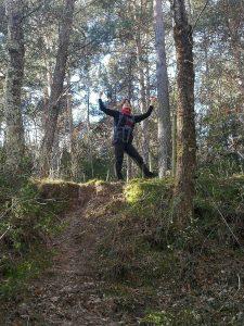 Subiendo al Taga por el bosque